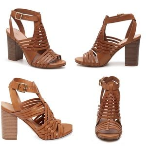 Madden Girl Tan Remmie Strappy Heels
